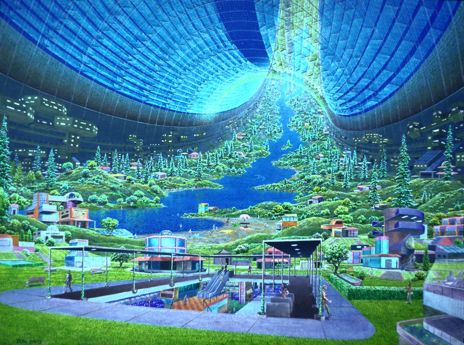 Landscape design in artificial gravity the whispering for Space landscape